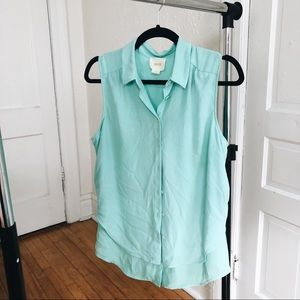 Anthropologie/MAEVE mint Top